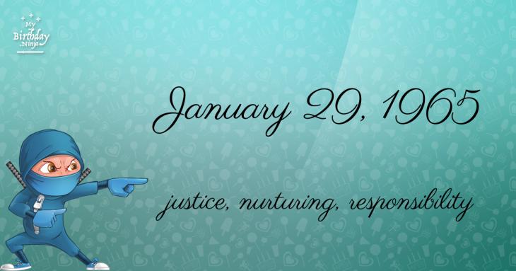 January 29, 1965 Birthday Ninja
