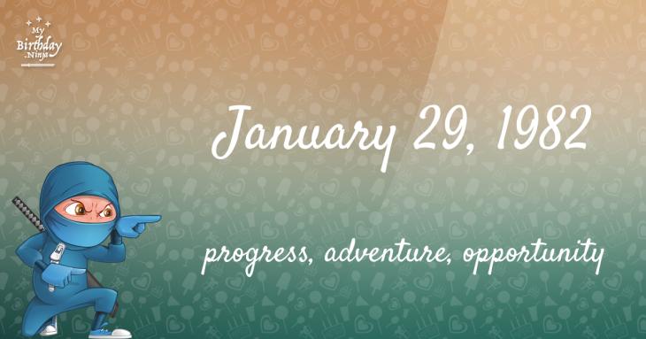 January 29, 1982 Birthday Ninja