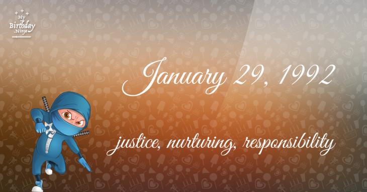 January 29, 1992 Birthday Ninja
