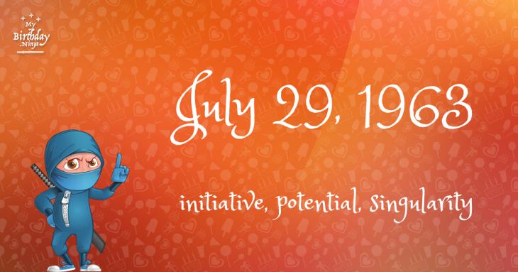 July 29, 1963 Birthday Ninja