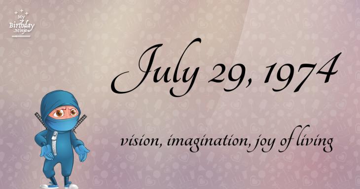 July 29, 1974 Birthday Ninja