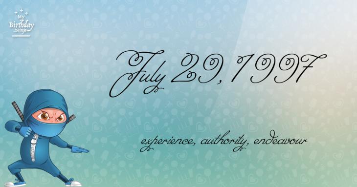 July 29, 1997 Birthday Ninja