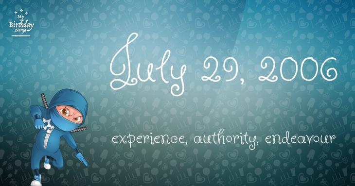 July 29, 2006 Birthday Ninja