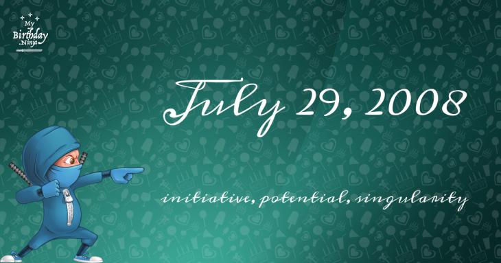 July 29, 2008 Birthday Ninja