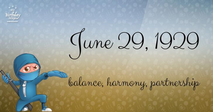 June 29, 1929 Birthday Ninja