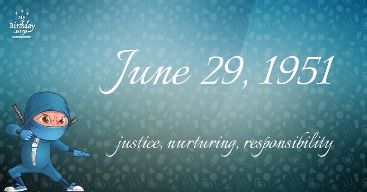June 29, 1951 Birthday Ninja