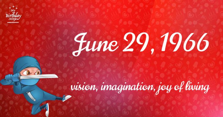 June 29, 1966 Birthday Ninja