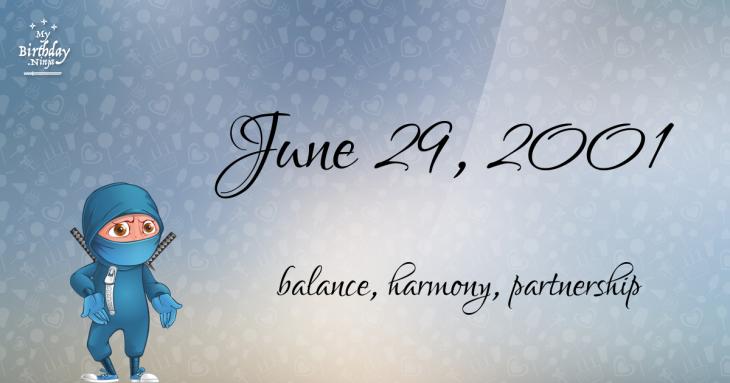 June 29, 2001 Birthday Ninja