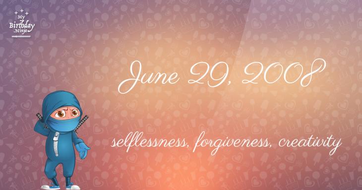 June 29, 2008 Birthday Ninja