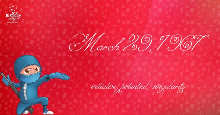 March 29, 1967 Birthday Ninja