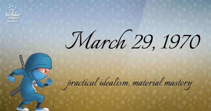 March 29, 1970 Birthday Ninja