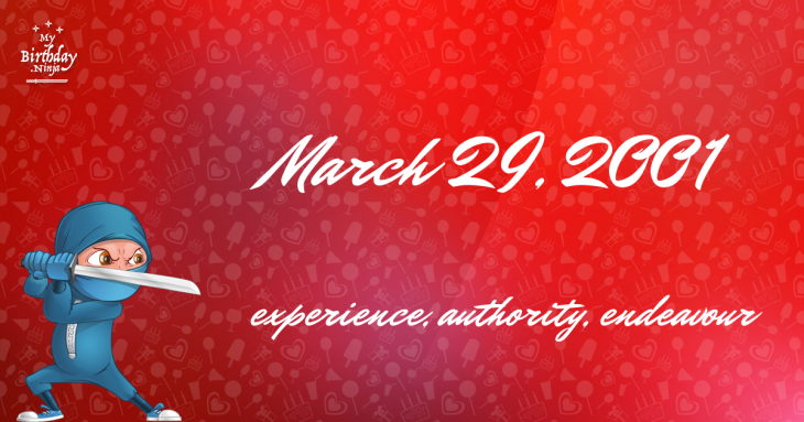March 29, 2001 Birthday Ninja