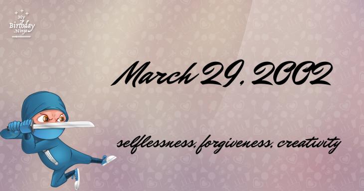 March 29, 2002 Birthday Ninja