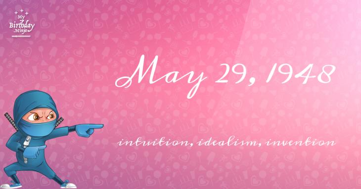May 29, 1948 Birthday Ninja