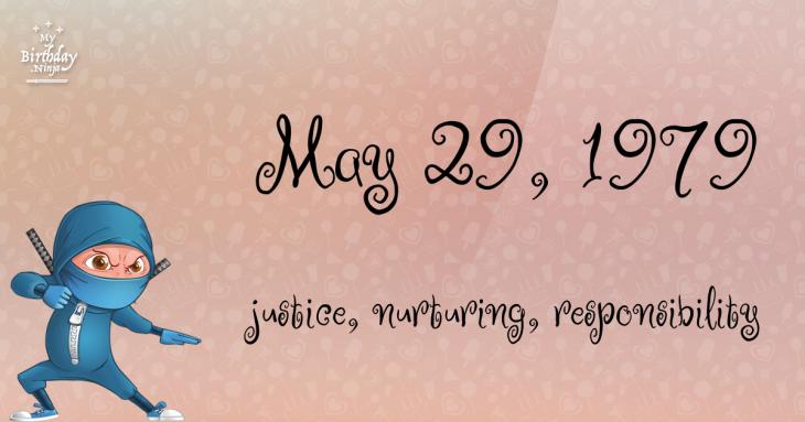 May 29, 1979 Birthday Ninja