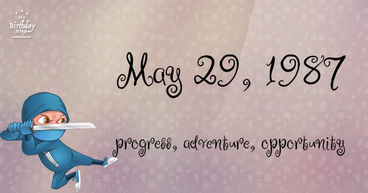 May 29, 1987 Birthday Ninja