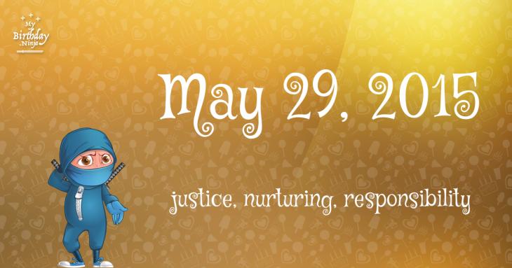 May 29, 2015 Birthday Ninja