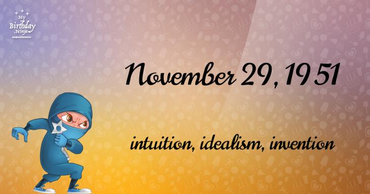 November 29, 1951 Birthday Ninja