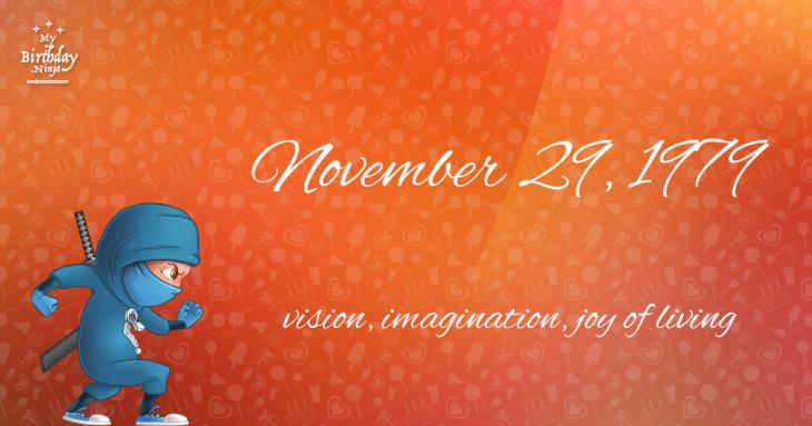 November 29, 1979 Birthday Ninja