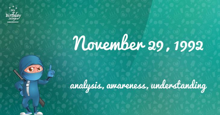 November 29, 1992 Birthday Ninja