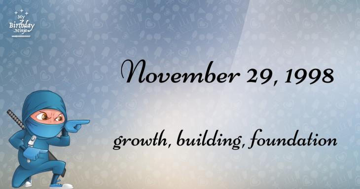 November 29, 1998 Birthday Ninja