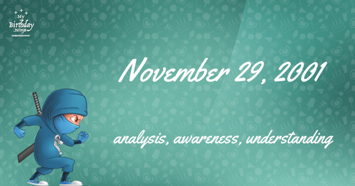 November 29, 2001 Birthday Ninja