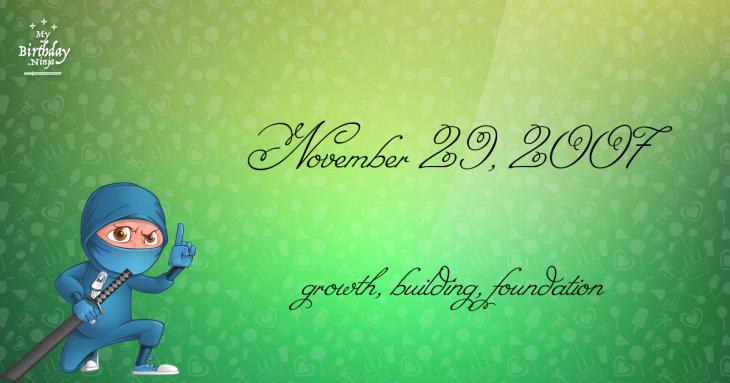 November 29, 2007 Birthday Ninja
