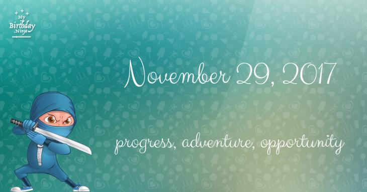 November 29, 2017 Birthday Ninja