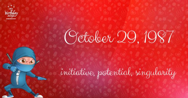 October 29, 1987 Birthday Ninja