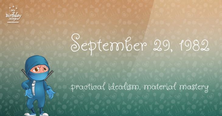 September 29, 1982 Birthday Ninja