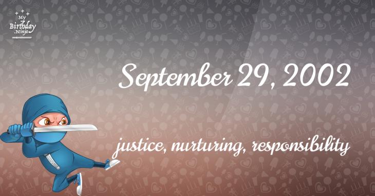 September 29, 2002 Birthday Ninja