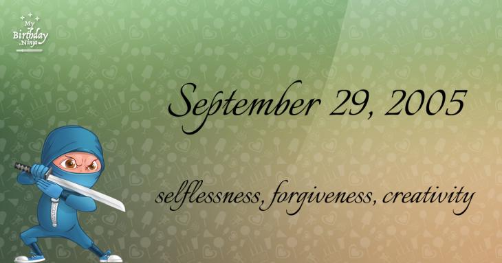September 29, 2005 Birthday Ninja