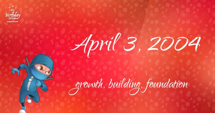 April 3, 2004 Birthday Ninja