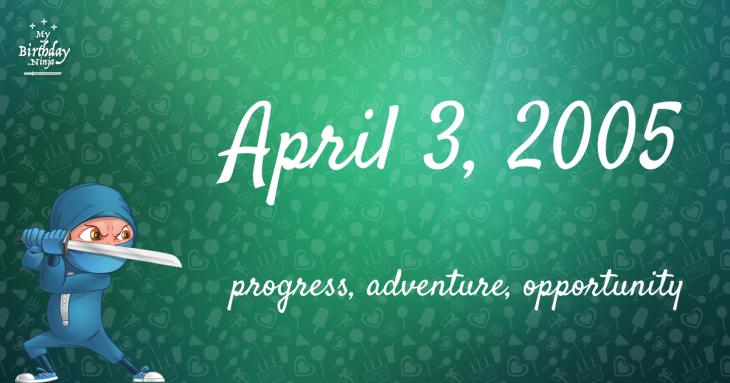April 3, 2005 Birthday Ninja