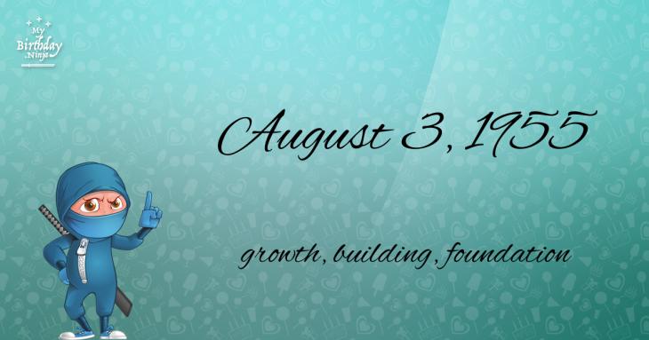 August 3, 1955 Birthday Ninja