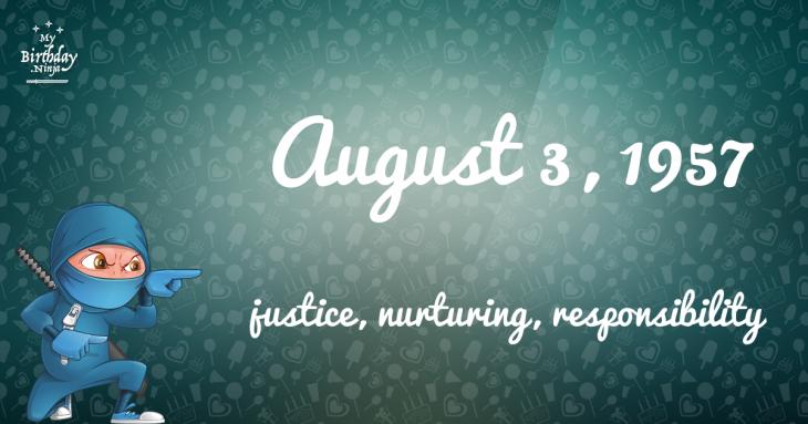 August 3, 1957 Birthday Ninja