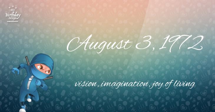 August 3, 1972 Birthday Ninja