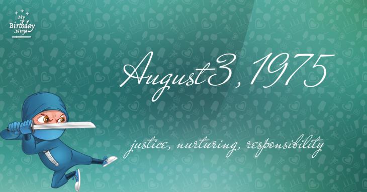 August 3, 1975 Birthday Ninja