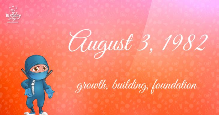 August 3, 1982 Birthday Ninja