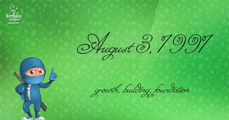 August 3, 1991 Birthday Ninja