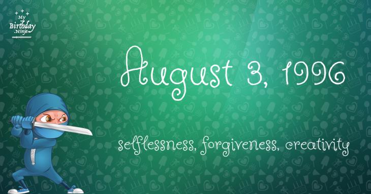 August 3, 1996 Birthday Ninja