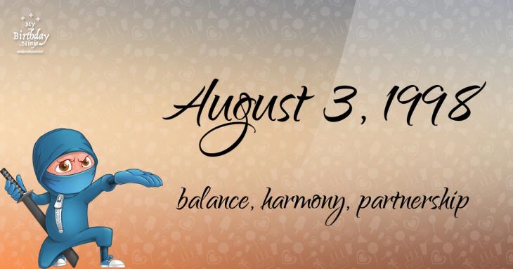 August 3, 1998 Birthday Ninja