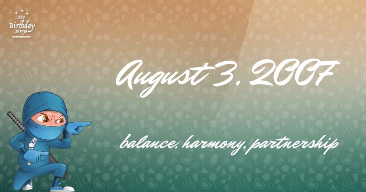 August 3, 2007 Birthday Ninja