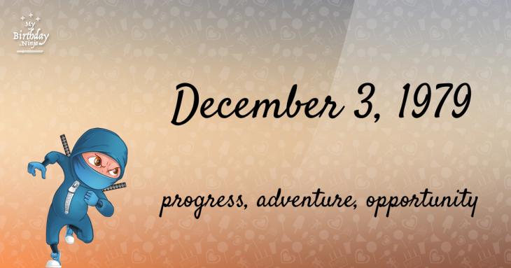 December 3, 1979 Birthday Ninja