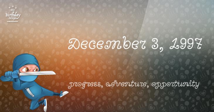 December 3, 1997 Birthday Ninja