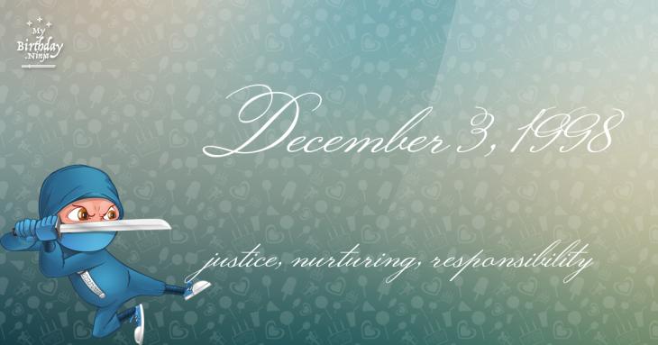 December 3, 1998 Birthday Ninja