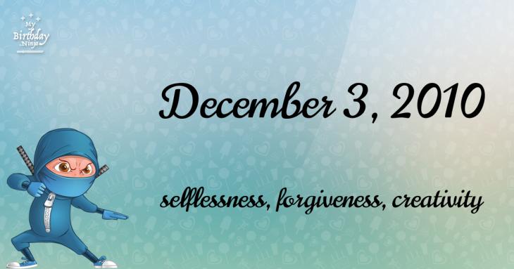 December 3, 2010 Birthday Ninja