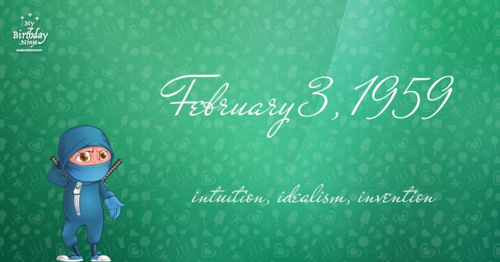 February 3, 1959 Birthday Ninja