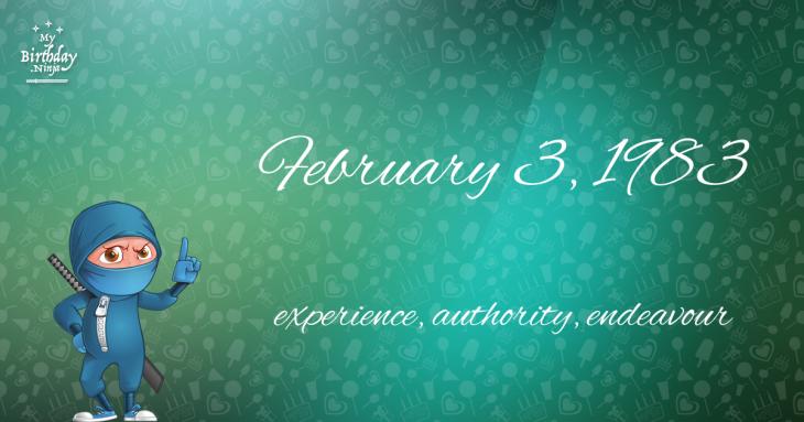 February 3, 1983 Birthday Ninja