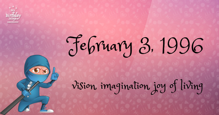 February 3, 1996 Birthday Ninja